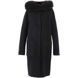 Vêtements Blousons Oakwood Manteau long en laine réversible  Yale Bi r Noir