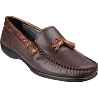 Chaussures Femme Mocassins Cotswold Biddlestone Marron et Or