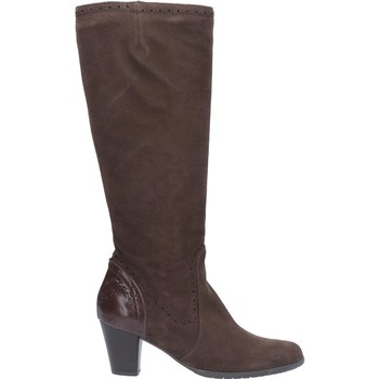 Chaussures Femme Bottes ville Riva Di Mare Latina Suede Patent Leather Marron