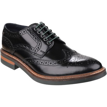 Chaussures Homme Derbies Base London Woburn Hi-Shine Noir