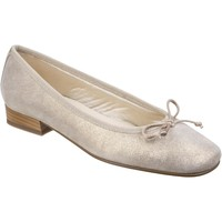 Chaussures Femme Ballerines / babies Riva Di Mare Fiastra Printed Leather Beige