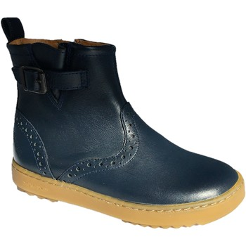 Chaussures Fille Boots Pom d'Api Wouf boots marine