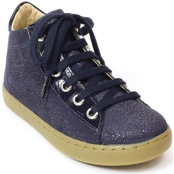 Chaussures Fille Bottines Shoo Pom Bottines cuir PLAY HI MAX bleu