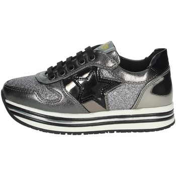 Chaussures Fille Baskets basses Asso AG-9502 Gris anthracite