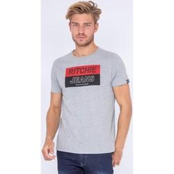 Vêtements Homme T-shirts manches courtes Ritchie T-shirt col rond pur coton JADAMIX Gris