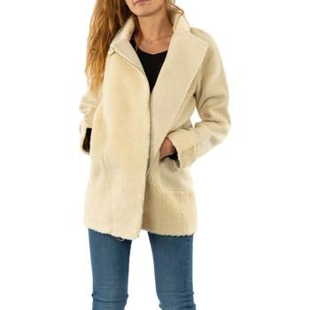Vêtements Femme Manteaux Bsb 044-218004 off white blanc