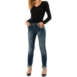 Vêtements Femme Jeans slim Please p24i 1670 blue denim bleu