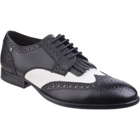 Chaussures Homme Derbies Base London Bartley Waxy Waxy Noir et Blanc