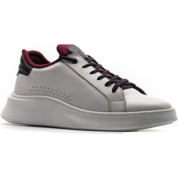 Chaussures Homme Baskets basses Base London UH01NF0-40 Crescent Waxy Blanc et Marine
