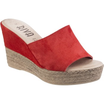 Chaussures Femme Mules Riva Di Mare Alliste Suede Rouge
