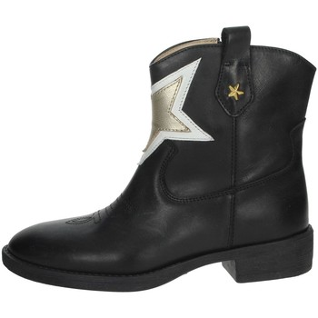Chaussures Fille Boots Florens F8503 Noir/Or