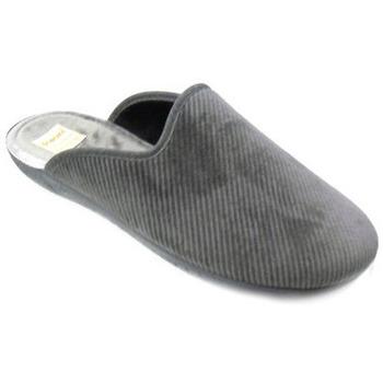 Chaussures Homme Chaussons Diamante CIABATTA  - ALAC2876 GRIS RAYÉ Gris