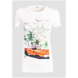 Vêtements Femme T-shirts manches courtes Guess T-Shirt Femme Souvenir W91I55 Blanc (rft) Blanc