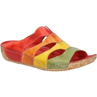 Chaussures Femme Mules Riva Di Mare 2159-500/528/535/05-RED-35 Ibiza Rouge et Multi