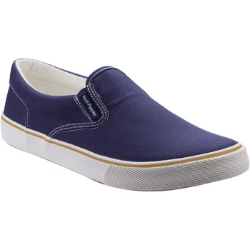 Chaussures Fille Slip ons Hush puppies HW06649-410-3 Byanca Marine Toile