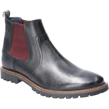 Chaussures Homme Bottes Base London TQ05010-40 Wilkes Waxy Noir