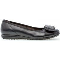 Chaussures Femme Ballerines / babies Gabor Ballerines cuir lisse talon  plat Noir