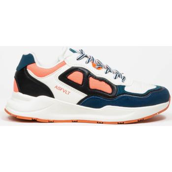 Chaussures Femme Baskets basses Asfvlt Baskets Femme  Concrete blanc/bleu/corail