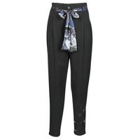 Vêtements Femme Pantalons fluides / Sarouels Desigual CHARLOTTE Noir