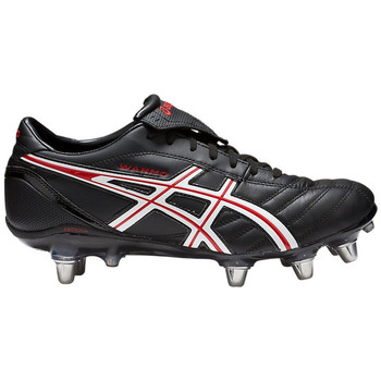 Chaussures Homme Rugby Asics Chaussures  lethal warno st 2 noir/rouge vif