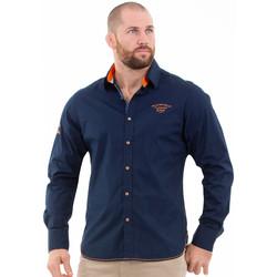 Vêtements Homme Chemises manches longues Ruckfield Chemise manches longues flowers Bleu