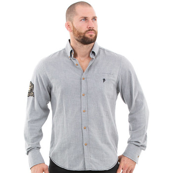 Vêtements Homme Chemises manches longues Ruckfield Chemise homme rugby héritage Gris