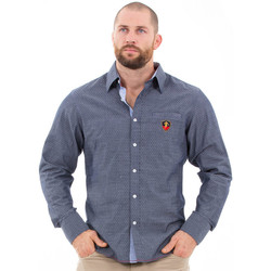 Vêtements Homme Chemises manches longues Ruckfield Chemise bleu french rugby club Bleu