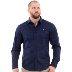 Vêtements Homme Chemises manches longues Ruckfield Chemise homme marine Bleu