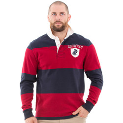 Vêtements Homme Polos manches longues Ruckfield Polo de rugby à rayures vintage Rouge