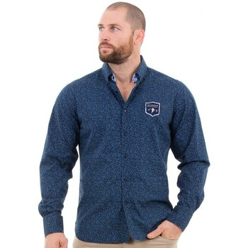Vêtements Homme Chemises manches longues Ruckfield Chemise marine We are Rugby Bleu