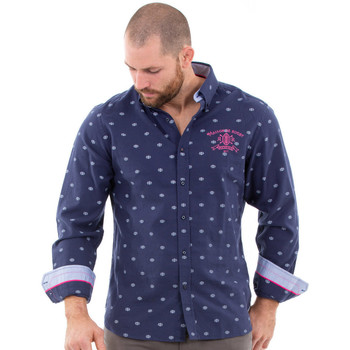 Vêtements Homme Chemises manches longues Ruckfield Chemise marine maison de rugby Bleu