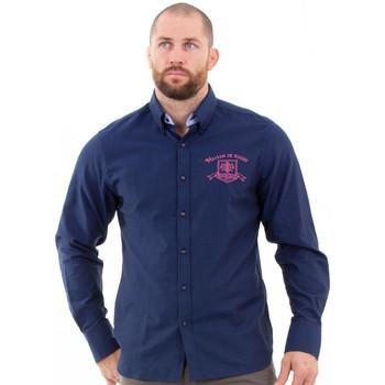 Vêtements Homme Chemises manches longues Ruckfield Chemise maison de rugby marine Bleu