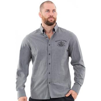 Vêtements Homme Chemises manches longues Ruckfield Chemise gris foncé homme Gris