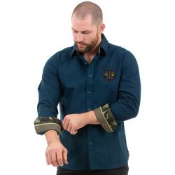 Vêtements Homme Chemises manches longues Ruckfield Chemise homme bleu rugby camps Bleu