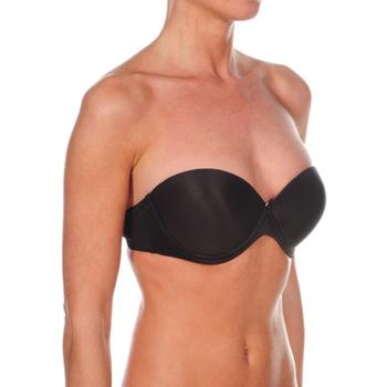 Sous-vêtements Femme Bandeaux & bretelles amovibles Selene Soutien-gorge push up double à bretelles Carlota Noir