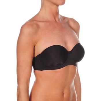 Sous-vêtements Femme Bandeaux & bretelles amovibles Selene Soutien-gorge sans bretelles rembourré Mariel Noir
