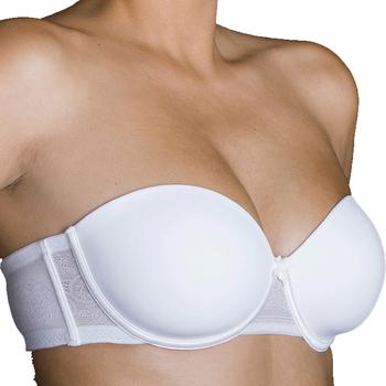 Sous-vêtements Femme Brassières Selene Soutien-gorge sans bretelles à armatures Silvia Blanc
