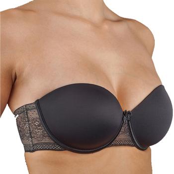 Sous-vêtements Femme Brassières Selene Soutien-gorge sans bretelles à armatures Silvia Noir