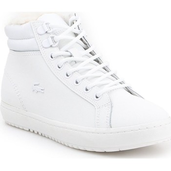 Chaussures Femme Baskets montantes Lacoste Straightset Thermo Blanc