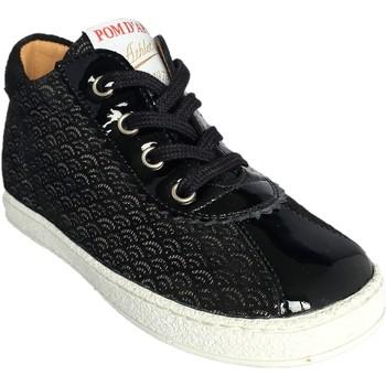 Chaussures Fille Baskets montantes Pom d'Api Mousse Joggy noir