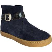 Chaussures Fille Boots Pom d'Api Mousse Twist marine