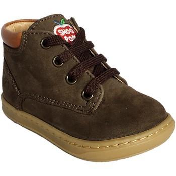 Chaussures Garçon Boots Shoo Pom Bouba Zip Desert Chocolat