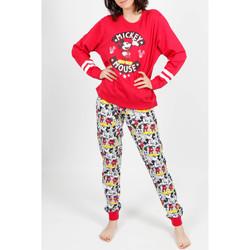 Vêtements Femme Pyjamas / Chemises de nuit Admas Tenue d'intérieur pyjama pantalon Mickey Basic rouge Rouge