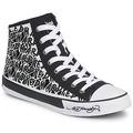 Chaussures Femme Baskets montantes Ed Hardy RESOUDRE Noir / Blanc