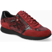 Chaussures Femme Baskets basses Mephisto Basket cuir MONIA Rouge