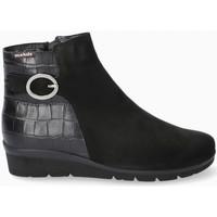 Chaussures Femme Bottines Mephisto Bottines cuir, nubuck NELCIA Noir