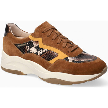 Chaussures Femme Baskets basses Mephisto Baskets cuir vernis ROMANE Marron