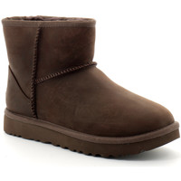 Chaussures Femme Boots UGG classic mini leather bottes Marron