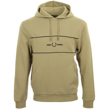 Vêtements Homme Sweats Fred Perry Embroidered Panel Hooded Sweatshirt marron