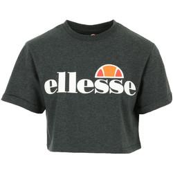 Vêtements Femme T-shirts manches courtes Ellesse Alberta Crop T-Shirt gris